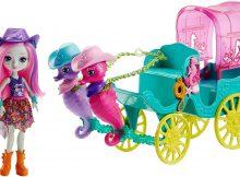 Enchantimals Seahorse Carriage Sandella Seahorse Doll Playset